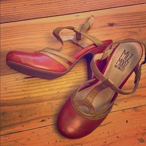 Miz Mooz red leather pumps